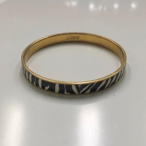 J. Crew Gold and Zebra Bangle